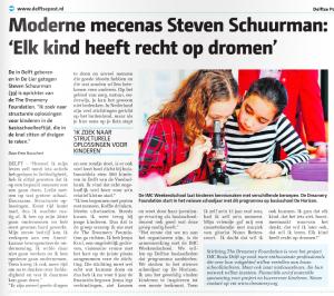 krantenartikel Delftse post 1 juli